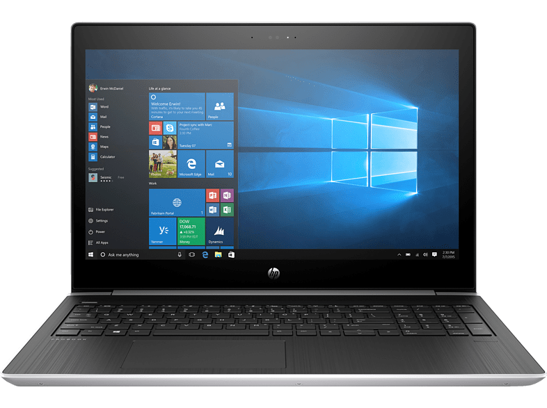 HP ProBook 450 G5, Notebook, Core™ i7 Prozessor, 1 TB HDD, 512 GB SSD, NVIDIA GeForce 930MX, Silber