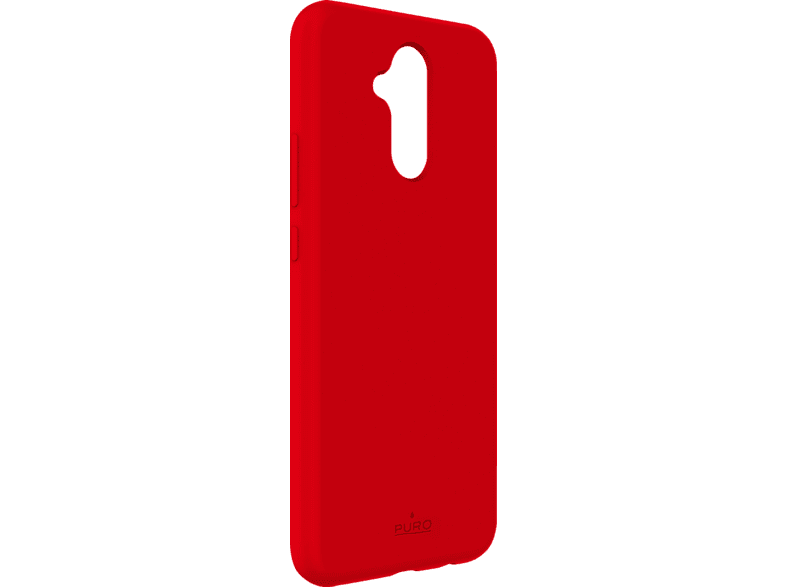 PURO ICON  , Backcover, Huawei, Mate 20 Lite, Thermoplastisches Polyurethan, Rot