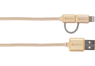 SKROSS 2.700250 - Ladekabel und Synchronisation (Gold)