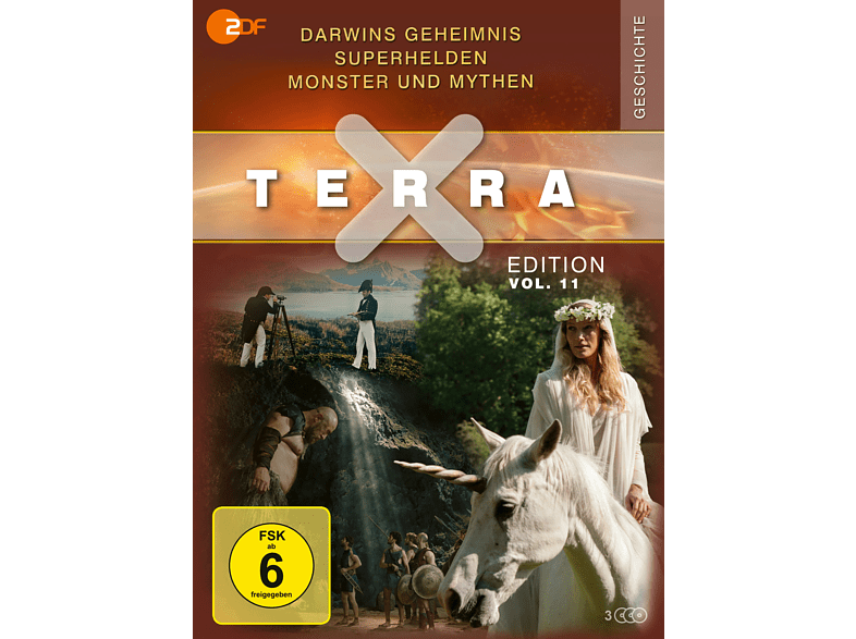Terra X – Edition Vol. 11: Darwins Geheimnis / Superhelden / Monster und Mythen [DVD]