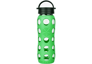 LIFEFACTORY Glas-Trinkflasche 650 ml mit Classic Cap, moss