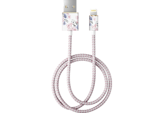 IDEAL OF SWEDEN Datenkabel Floral Romance mit Lightning Anschluss 1m, weiß/rosa