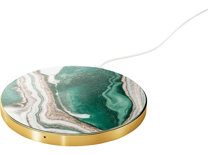 IDEAL OF SWEDEN Golden Jade Marble, Induktive Ladestation, Grün/Gold