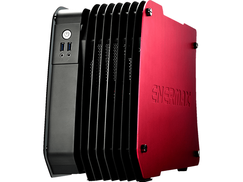 ENERMAX Steelwing Rot  PC Gehäuse, Dynamic Red
