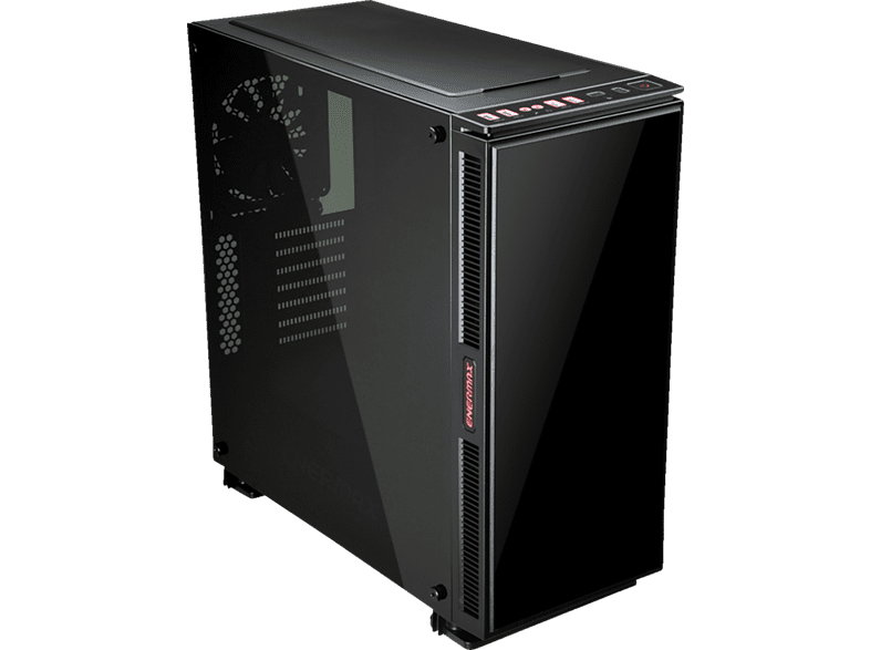 ENERMAX Equilence  Gehäuse , Schwarz mit roter LED
