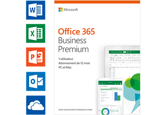 Office 365 Business Premium (FR) - 5 PC ou Mac + 5 tablettes + 5 smartphones