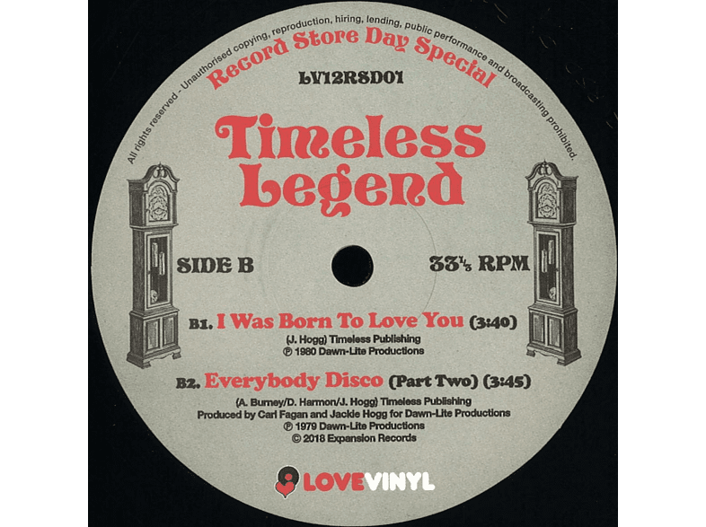 Timeless Legend - Everybody Disco / I Was Born To Love You [Vinyl]
