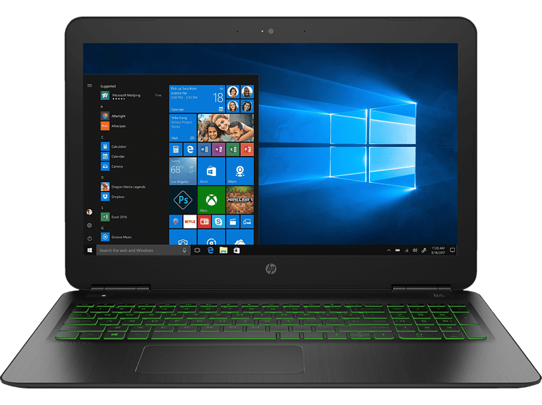 HP 15-dp0306ng, Gaming-Notebook, Gaming Notebook, Core™ i7 Prozessor, 16 GB RAM, 1 TB HDD, 128 GB SSD, GeForce® GTX 1060, Schwarz/Grün | 00193808014772