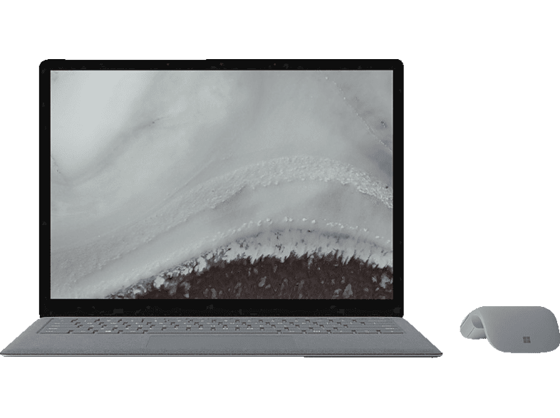 MICROSOFT Surface Laptop 2, Notebook, Core™ i7 Prozessor, 16 GB RAM, 512 GB SSD, Intel® UHD Graphics 620, Platin Grau