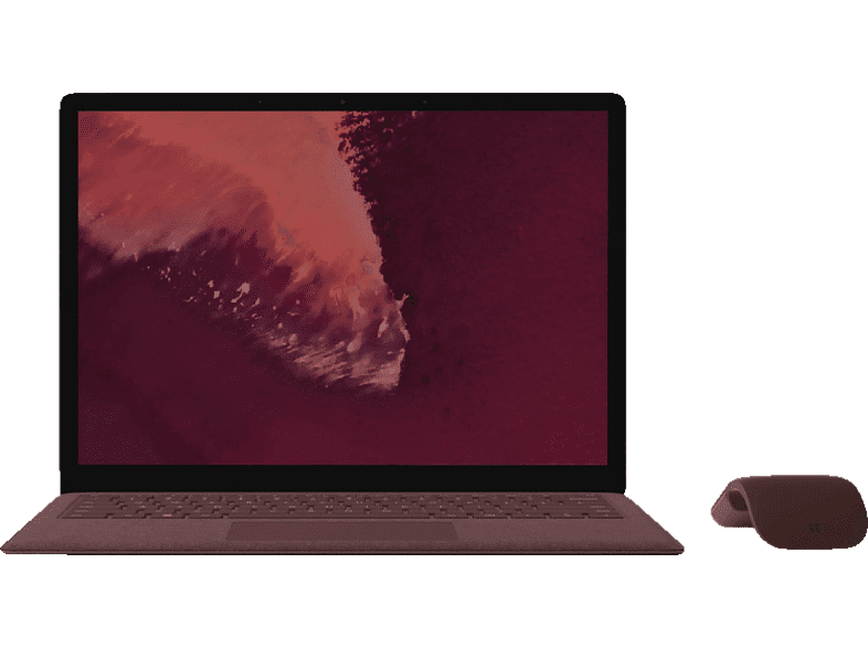 MICROSOFT Surface Laptop 2, Notebook, Core™ i7 Prozessor, 8 GB RAM, 256 GB SSD, Intel® UHD Graphics 620, Bordeaux Rot