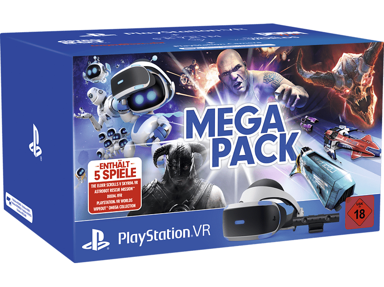 SONY PlayStation VR Megapack: PlayStation VR, PlayStation Camera, 5 Spiele (VOUCHER)