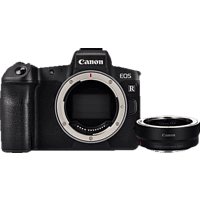 CANON EOS R BODY BLACK+ADAPTER EF-EOS R Systemkamera 30.3 Megapixel  , 8.01 cm Display   Touchscreen, WLAN