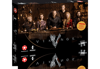 WINNING MOVES Vikings - Ragnars Court Puzzle, Mehrfarbig