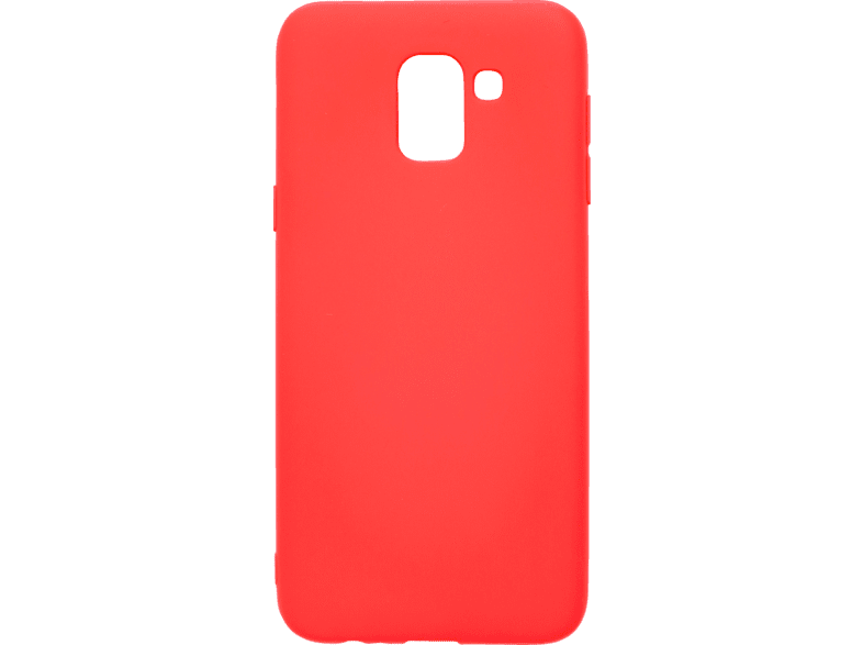 V-DESIGN VMT 266 , Backcover, Samsung, Galaxy J6, Thermoplastisches Polyurethan, Rot