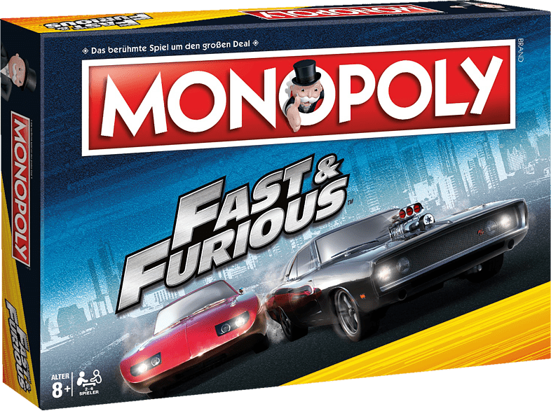 WINNING MOVES Monopoly - Fast and Furious Brettspiel, Mehrfarbig