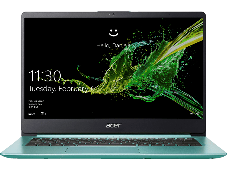 ACER  Swift 1 (SF114-32-P8VP), Notebook, Pentium® Prozessor, 4 GB RAM, 64 GB eMMC, Intel® UHD-Grafik 605, Aqua Green | 04713883990288