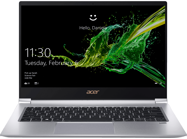 ACER  Swift 3 (SF314-55-71NF), Notebook, Core™ i7 Prozessor, 8 GB RAM, 512 GB SSD, GeForce® MX150, Silber | 04713883907798
