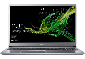 ACER Swift 3 (SF315-52-813L), Notebook mit 15.6 Zoll Display, Core™ i7 Prozessor, 8 GB RAM, 256 GB SSD, 1 TB HDD, Intel® UHD-Grafik 620, Sparkly Silver