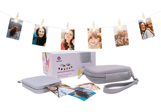 HP Draagbare fotoprinter Sprocket 200 Wit Geschenkbundel (1AS98A#638)