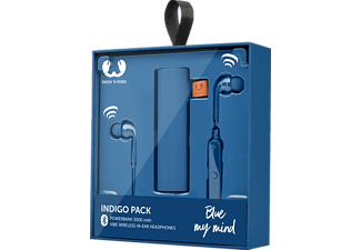 FRESH N REBEL Gift Pack - Vibe, In-ear, Kabellose In-Ear Kopfhörer, Powerbank, Blau