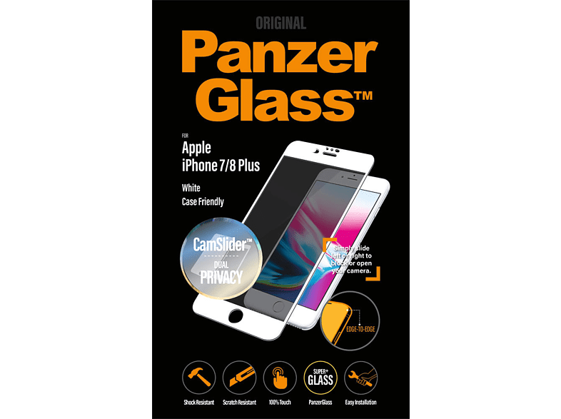 PANZERGLASS  Privacy Schutzglas (Apple iPhone 6 Plus, iPhone 6s Plus, iPhone 7 Plus, iPhone 8 Plus) | 05711724126536