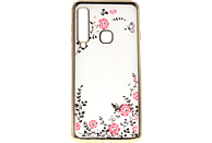 AGM Feeling , Backcover, Samsung, Galaxy A9 (2018), Thermoplastisches Polyurethan, Kunststoff, Gold
