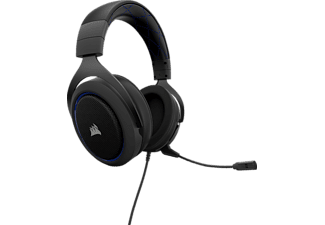 CORSAIR, CA-9011172-EU, HS50, Gaming-Headset, Schwarz/Blau