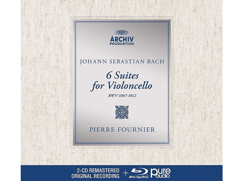 Pierre Fournier - Bach: 6 Suites For Violoncello [CD + Blu-ray Audio]