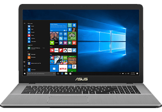 ASUS N705FD-GC014T, Notebook mit 17.3 Zoll Display, Core™ i7 Prozessor, 16 GB RAM, 1 TB HDD, 256 GB SSD, NVIDIA GeForce GTX 1050, Star Grey