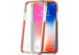 CELLY Schutzhülle Hexagon für Apple iPhone X/XS, transparent/orange (HEXAGON900OR)