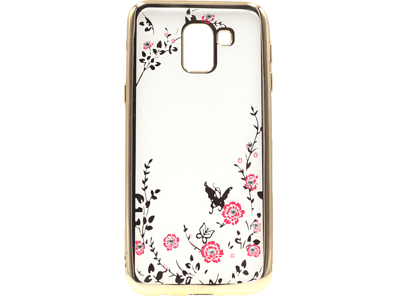 AGM Feeling , Backcover, Samsung, Galaxy J6 (2018), Thermoplastisches Polyurethan/Kunststoff, Gold