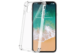 CELLY Schutzhülle Armor für Apple iPhone X/XS, transparent (ARMOR900WH)