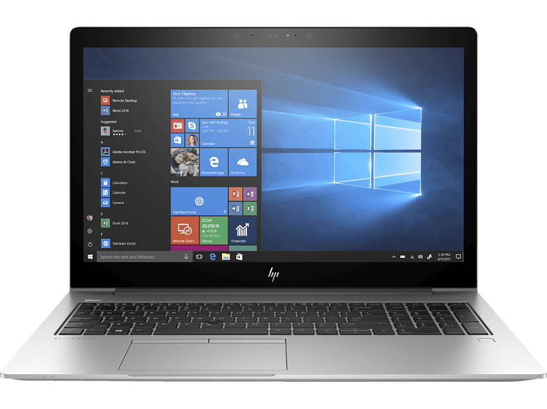 HP EliteBook 850 G5, Notebook mit 15.6 Zoll Display, Core™ i5 Prozessor, 16 GB RAM, 512 GB SSD, Intel® UHD-Grafik 620, Silber
