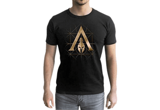 ABYSSE CORP Assassin's Creed T-Shirt Crest Odyssey T-Shirt, Schwarz