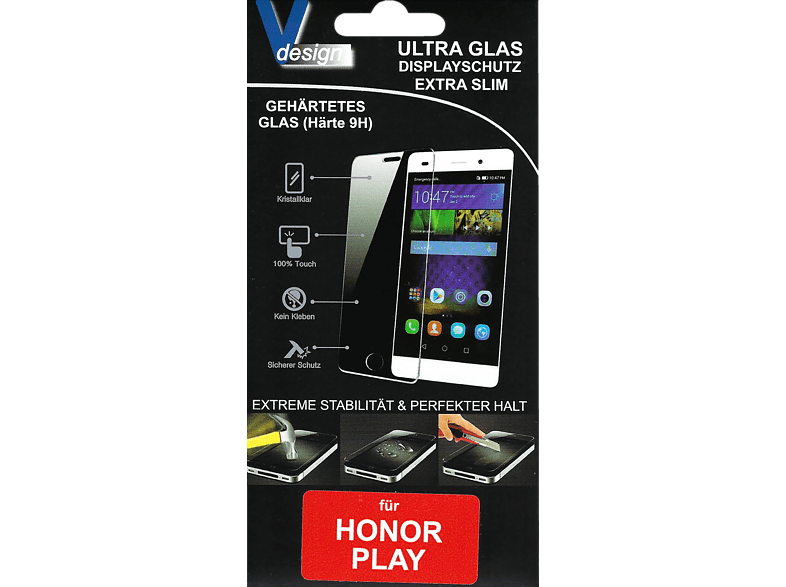 V-DESIGN  VF 195 Schutzglas (Honor Play) | 04056212040675