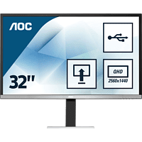 AOC Q3277PQU   WQHD Office Monitor (4 ms Reaktionszeit, 60 Hz)