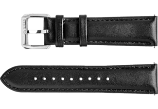 VIITA WATCH Strap - Leather Smooth - Black / Silver 20 cm