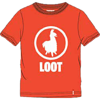 MUSTERBRAND Kids Loot Lama 176 T-Shirt, Orange