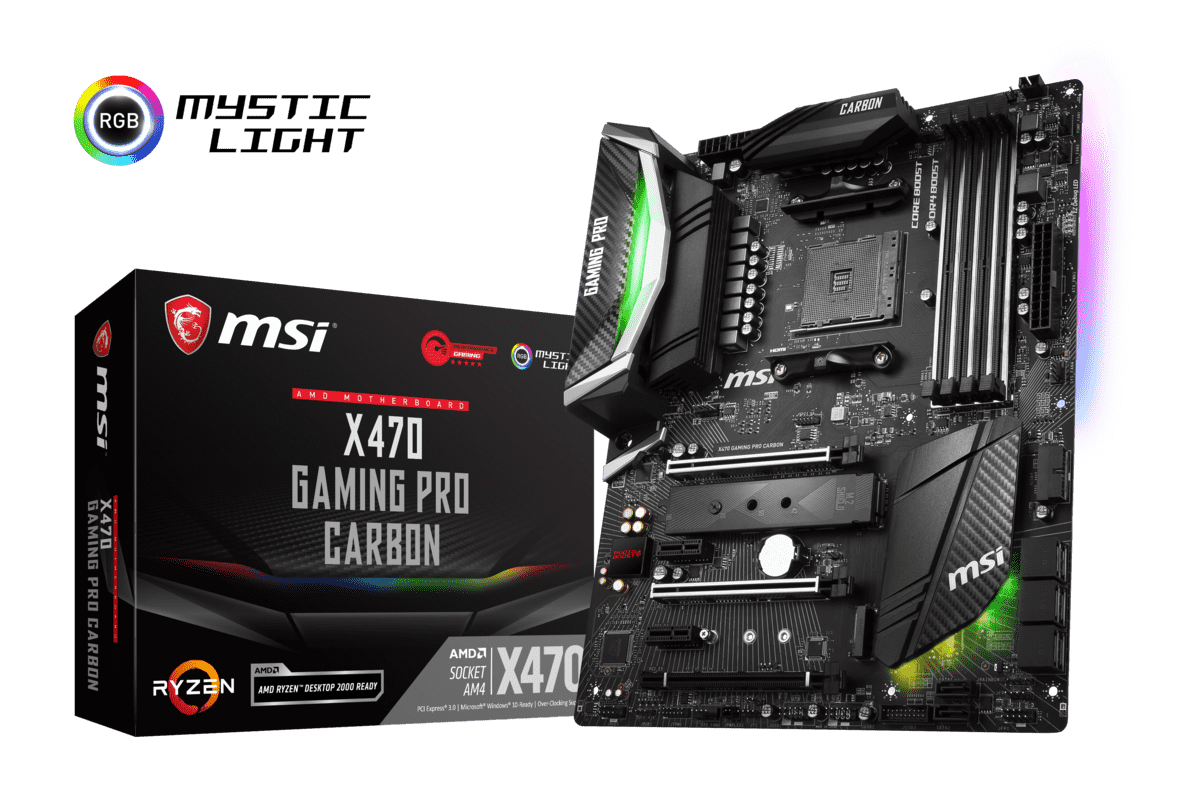 MSI X470 GAMING PRO CARBON (7B78-002R) Mainboard in