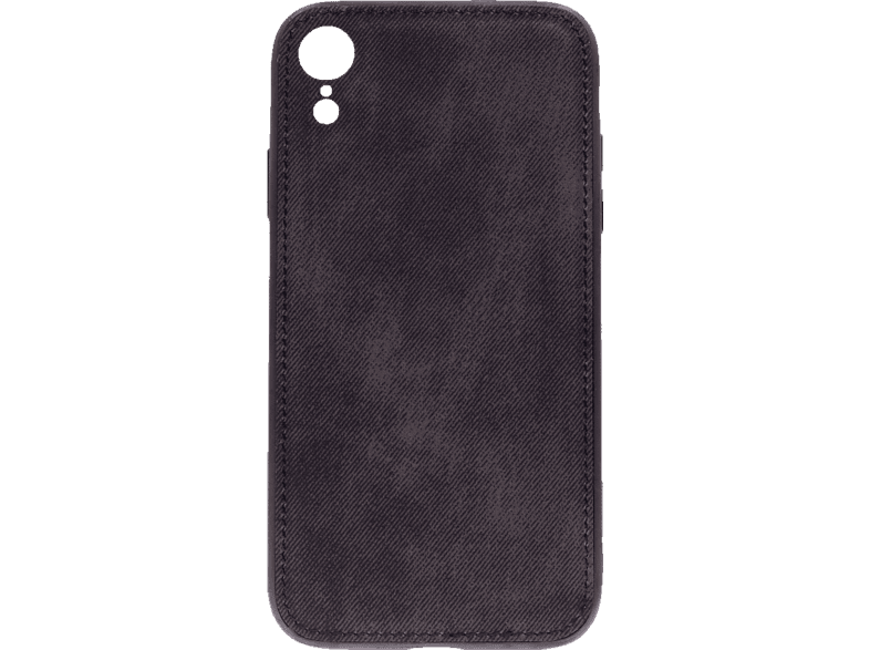 AGM 27600 , Backcover, Apple, iPhone XR, Silikon/Stoff, Schwarz