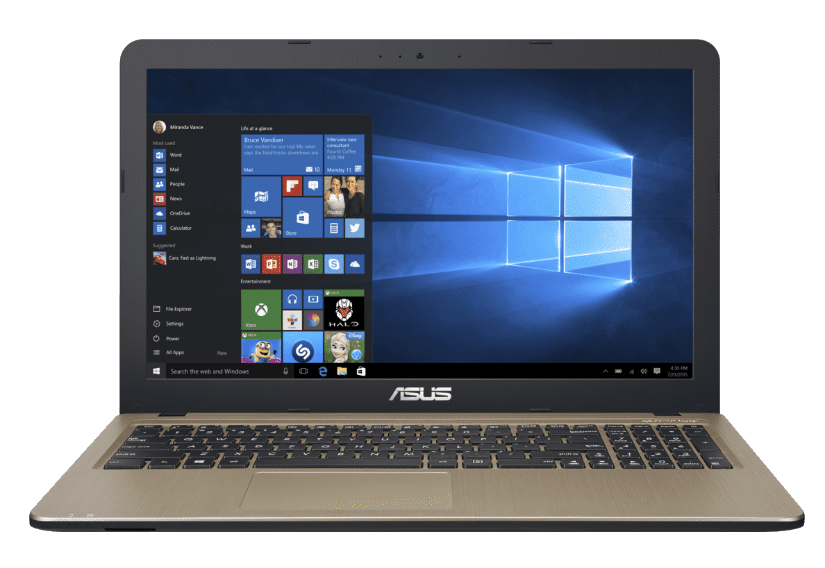 ASUS R540LA-DM974T Notebook mit Core™ i3, 4 GB RAM, 256 GB & Intel HD Graphics 5500 in Chocolate Black