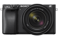 SONY Alpha 6400 Kit (ILCE-6400M) Systemkamera 24.2 Megapixel mit Objektiv 18 - 135 mm , 7.5 cm Display   Touchscreen, WLAN