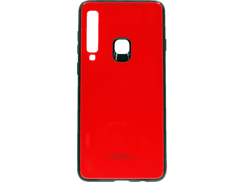 AGM 27589 Glas Backcover Samsung A9 (2018) Echtglas/Thermoplastisches Polyurethan Rot