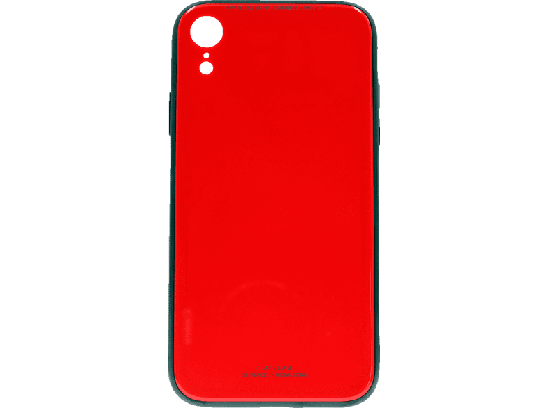 AGM 27511 Glas , Backcover, Apple, iPhone XR, Echtglas/Thermoplastisches Polyurethan, Rot
