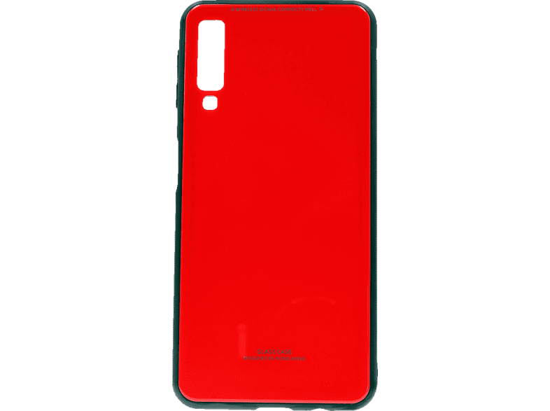 AGM 27587 Glas , Backcover, Samsung, A7 (2018), Echtglas/Thermoplastisches Polyurethan, Rot