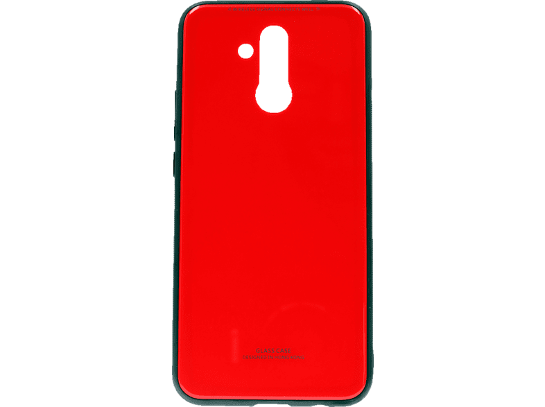 AGM 27588 Glas Backcover Huawei Mate20 Lite Echtglas/Thermoplastisches Polyurethan Rot