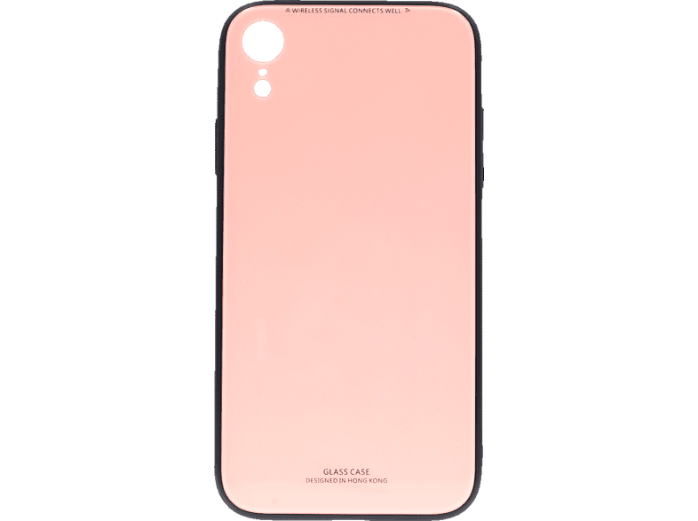 AGM 27512 Backcover Apple iPhone XR Echtglas/Thermoplastisches Polyurethan Pink