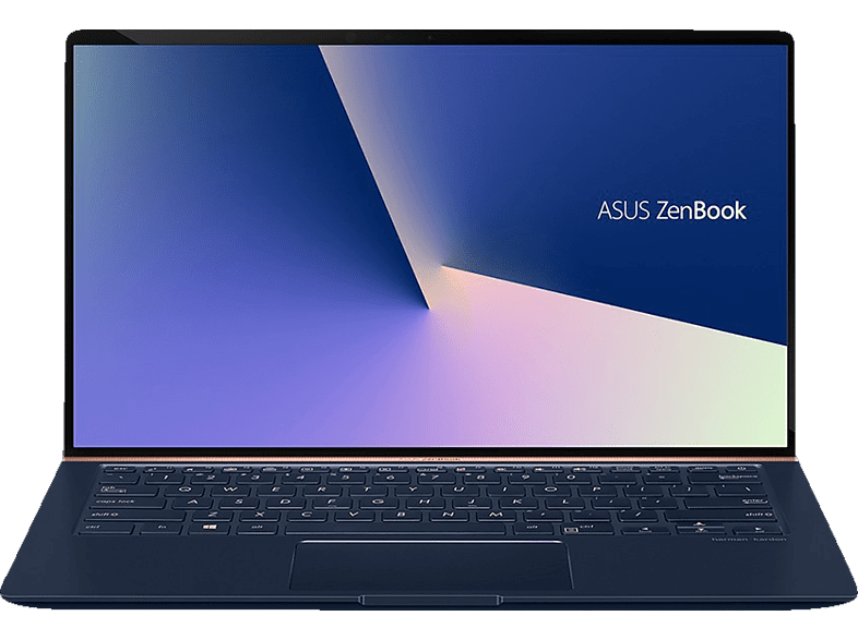 ASUS UX433FN-A6106T, Notebook mit 14 Zoll Display, Core™ i7 Prozessor, 16 GB RAM, 256 GB SSD, GeForce® MX150, Royal Blue Glare