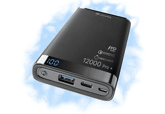 CELLULAR LINE Powerbank FreePower Manta S 12000 Pro+ mit Qualcomm™ Quick Charge® 3.0, Adaptive Fast Charge, ultraschnell
