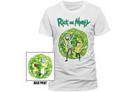 CID COMPLETELY INDEPENDENT Rick and Morty T-Shirt Portal T-Shirt, Weiß
